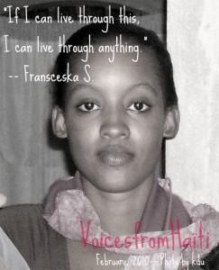 I Can Live -- Franceska