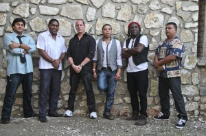 Cameroonian bass player Richard Bona  (second from right) and his Cuban group Mandekan Cubano closed the 7th Edition of the Festival International de Jazz de Port-au-Prince.