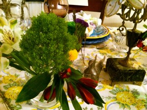 table setting at Chez Elle