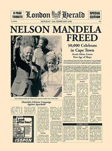 news paper image of nelson mandela