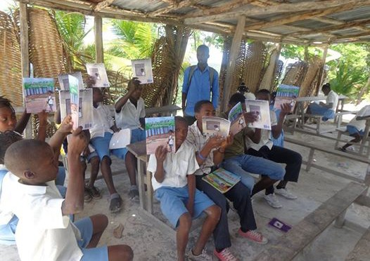 Students in Haiti reading Fabiola can count
